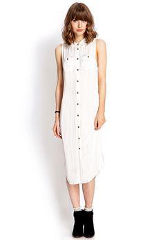 Sleeveless Shirtdress | FOREVER21 - 2000107799
