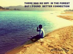 There was no wifi in the forest but i found better connection  #rohityoge #quote #heart #calm #travel #depth #kindness #love #scenery #sea #river #forest #wifi #connection #network