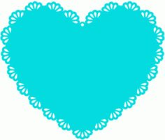 Silhouette Online Store: scallop heart doily