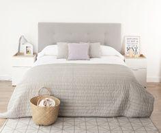 Dormitorio en gris. Ideas decoración #dormitorios
