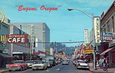 willamette street eugene oregon 1960's by it's better than bad, via Flickr