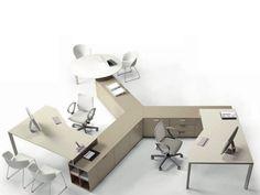 криволинейный офисный стол