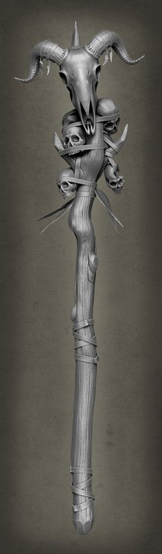 ArtStation - Shaman Staff, Alex Winslow