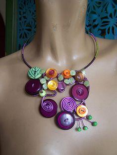 créations bijoux en boutons | Un air de verdure .... : Les petits secrets d'Adélaïde