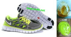 the latest 94d03 f9075 Mens Nike Free Run 2 Black White Green Shoes