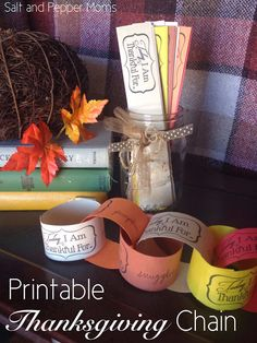 Salt and Pepper Moms: Printable Thanksgiving Chain