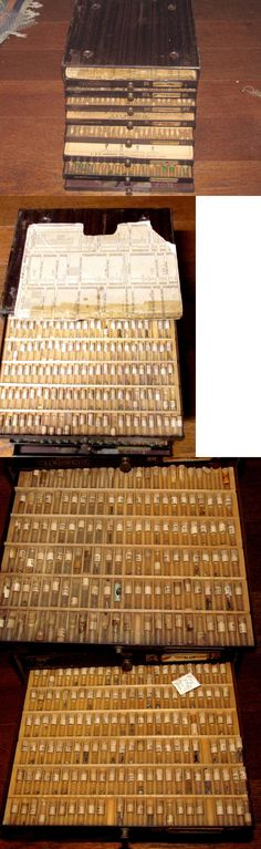 Other Watch Parts 10324: Lot Vintage Elgin And Hamilton Pocket Watch Parts In 8 Drawer Cabinet Stems, Hands -> BUY IT NOW ONLY: $300 on eBay!