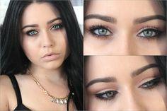 Pin for Later: Mit diesen 9 Makeup Tutorials bringt ihr blaue Augen zum Strahlen  Amy Macedo präsentiert hier einen raffinierten Tipp: Das Makeup wird am Unterlid sowie in der Lidfalte aufgetragen, ohne jeglichen Lidschatten!