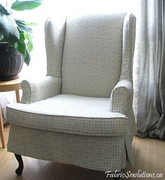 Floral Cover For Wing Back Chairs | Wingback Chair Slipcover