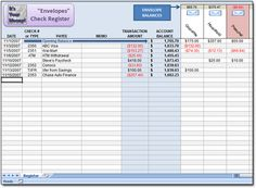 Free Dave ramsey Excel Spreadsheet to use as an 'Envelopes' Check Register