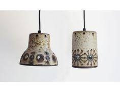 Par de lámparas de cerámicas Hannie Mein años por pastpresenthome