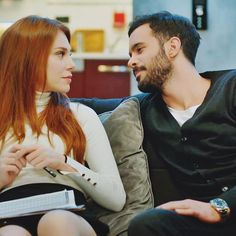 Movie Couples, Cute Couples, Elcin Sangu, Movies And Series, Prettiest Actresses, Big Love, Turkish Actors, My Princess, Barista