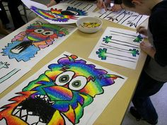 5th Grade Chinese Dragons by Paintbrush Rocket, via Flickr