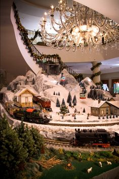 Charleston Place Hotel Lobby, Charleston, SC!!! Bebe'!!! An elegant holiday village display!!!