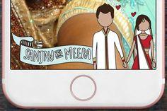 Indian Wedding Snapchat Geofilter - Boho Indian #Weddinggeofilter #WeddingSnapchat #CheapGeofilter #SnapchatGeofilter #CustomGeofilter #indianwedding #bollywood #sikh #punjabi #hinduwedding #cartoon #caricature #illustration #gujarati
