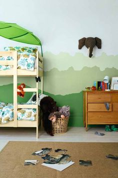 Take budding explorers on a safari with a jungle themed bedroom. All you need is Enchanted Eden, Putting Green, Willow Tree and Atmosphere.