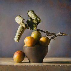 'Warm Yellow' (2013) by Italian realist figurative painter Gianluca Corona (b.1969). Oil on board, 25 x 25 cm. source: Salomon Gallery. via Daniela Scarel