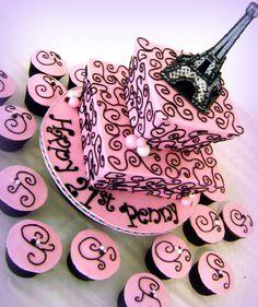 french theme cake | French Paris Theme Cupcakes