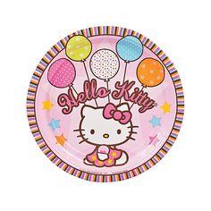Hello+Kitty®+Balloon+Dreams+Party+Plates+-+OrientalTrading.com
