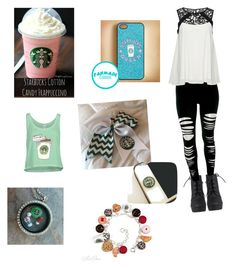 """Going to Starbucks"" by ggfashionlover ❤ liked on Polyvore"