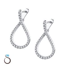 b635ba5473bc3 47 Best Diamond Earrings images in 2018 | Diamond hoop earrings ...