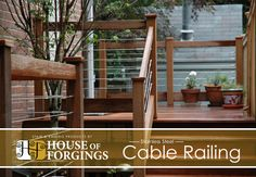 Juxtapose wood and stainless steel cable railing for expansive views and unparalleled style. Pressure treated lumber for decking and balconies are readily available and priced for any budget.