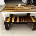 Wood Pallet Benches and Table Set