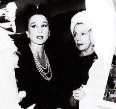 Countess Jacqueline de Ribes with Eleanor Lambert