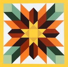 Standard Size Barn Quilts - Ohio Barn Quilts Barn Quilt Designs, Barn Quilt Patterns, Pattern Blocks, Quilting Designs, Paper Patterns, Geometric Patterns, Ohio, Barn Quilts For Sale, Painted Barn Quilts