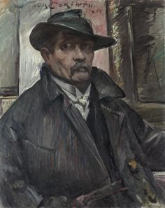 Lovis Corinth (1858-1925), Self-Portrait with Hat and Coat, 1915, oil on canvas, 99.7x78.8 cm | Cleveland Museum of Art