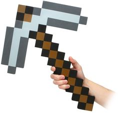 Minecraft Foam Iron Pickaxe Available on TrendyHalloween.com!  #MineCraft #Weapons #Crafters #Gamer