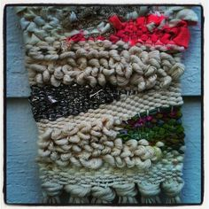 """small weaving by """"textileandtrim"""""""