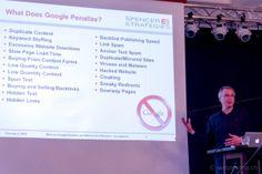 Google Penalties und wie man sie umgeht – oder daraus herauskommt - Joe Spencer http://webmemo.ch/search-engine/seo-konferenz-internet-briefing #seo #konferenz