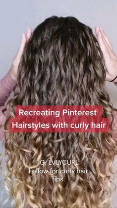 Curly Hair Tips, Curly Hair Styles Easy, Cute Curly Hairstyles, Curly Hair Updo, Short Hair Styles, Natural Curl Hairstyles, Style Curly Hair, Long Layered Curly Haircuts, Curly Hair With Bangs