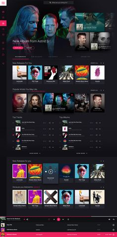 Ng3 2 Flat Web Design, Creative Web Design, App Design, Website Design Inspiration, Music Web, Software, Web Layout, Cool Websites, User Interface Design