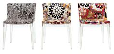 Mademoiselle Chair, designed by Philippe Starck for Kartell Philippe Starck, Cool Chairs, Side Chairs, Cool Furniture, Modern Furniture, Acrylic Furniture, Kartell, Contemporary Dining Chairs, Occasional Chairs