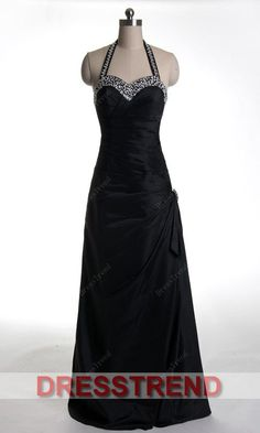 formal, long, black evening gown