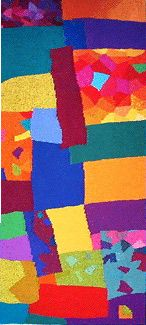 """Tapestry Line Unlimited - Line Dufour - New Tapestry Gallery, """"Excitement"""" 60 x 30 inches"""
