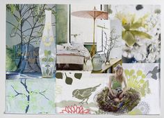Moodboard for new colours for Happy Horses print