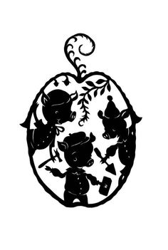 There's a whole series of silhouette prints of fairy tales at this etsy shop. love them all, and not too pricey either!