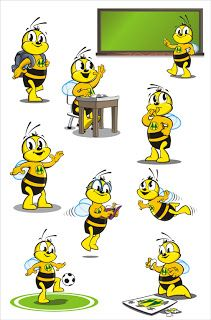 Professora Lúcia Martinelli: Outubro 2010 Bee Template, Bee Rocks, School Border, Bumble Bee Birthday, Bee Painting, Arabic Alphabet For Kids, Abraham Maslow, Bee Creative, Bee Movie