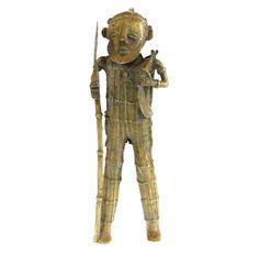 Tribal Dogon Mali Brass Figure #646 | Figures | Metal — Deco Art Africa - Decorative African Art - Ethnic Tribal Art - Art Deco