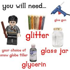 - I just saved a glass jar hoping I'd find something on here to… Lego Craft, Crafty Craft, Crafting, Diy Snow Globe, Snow Globes, Holiday Crafts, Christmas Crafts, Kids Christmas, Crafts To Do