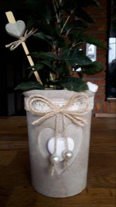 Beton Kerzenleuchter oder Blumentopf von ParacordFamilyandPet