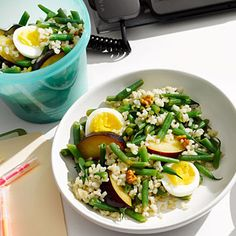 Egg and Rice Salad To Go - 31 Quick-and-Easy Fat-Burning Recipes - Health Mobile