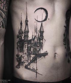 Tattooer Nadi   Seoul Korea Custom castle naditat2@gmail.com