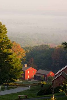 The view at Fruitlands Museum in the fall. Glorious!