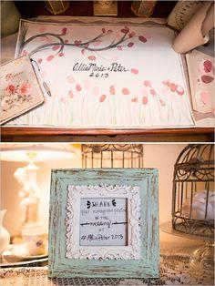 pink fingerprint guestbook ideas