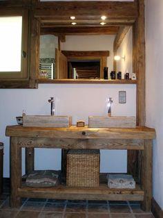 meuble vasque salle de bain rustique - Recherche Google