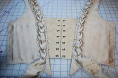 Taupe Robe a la Francaise: Bodice Fronts tutorial (non-historical construction: great ideas for theatre or dance costumes)
